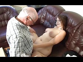 german grandpa makes young girl desperate