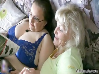 cougar chubby slut gets her tits rubbed part2
