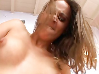 ass girl chokes on dick and takes a large penis
