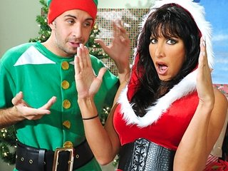 hot big-tit brunette lady simply wills an elf ??s