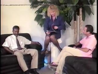 older blonde shablee is interviewed and after