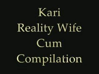 kari reality wife white cream compilation