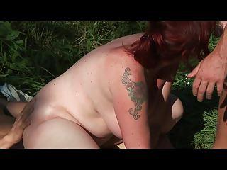 bid tits lady pierced butt by 2 young sporty men