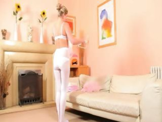 adorable mom into ashen nylons getting nude