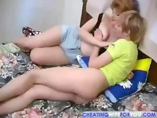 russian grownup slurps his penis before taking
