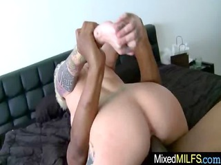 awesome slut obtain hardcore fuck with brown man