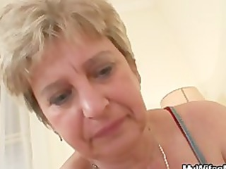 penis hungry granny gang-bangs her son in law