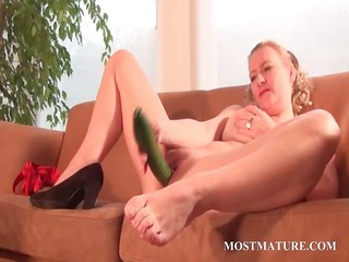 filthy belle nails her bitch with a cucumber