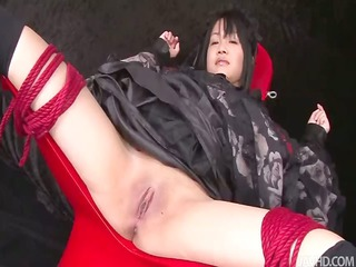 hikaru momose tied spread bulky expose in a chair