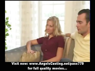 inexperienced delightful blond bride nice talking