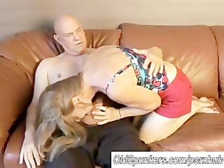 sexy mature babe worships to gang pierce