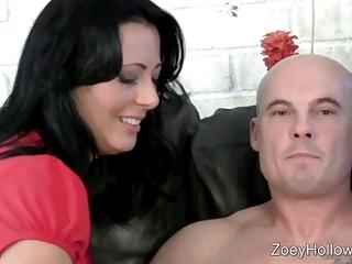 jerky woman stroke a giant penis