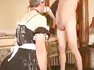 sissy man sucks penis for maiden bdsm bondage