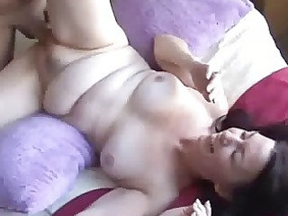 brunette lady initial gang-bangs on camera