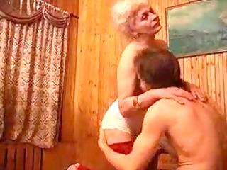 unshaved granny bangs her fella