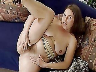 mature albino pleasing with herself