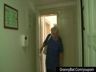 giant boobed grandma enjoys a stranger