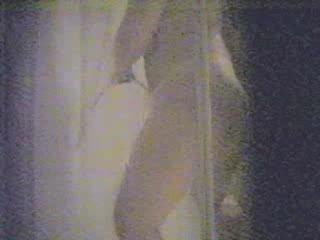 my slutty mummy pushing dildo into bath
