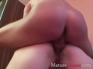 sweet brunette older girl and her fresh horny stud