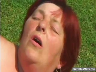 nasty granny whore takes cumhozed after a