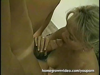 slutty blonde slut gets dick and sperm