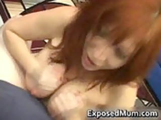 huge boobed woman taking a huge libido ready