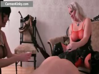 two rooty girl drilling guy with strap part4