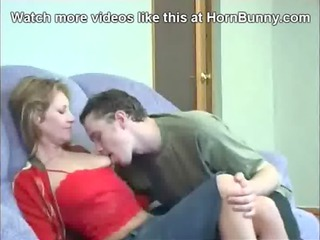 son seduces his milf and fucks her on the berth -