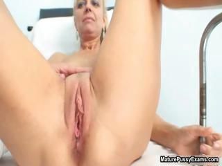 naughty older patient playing her reddish part6