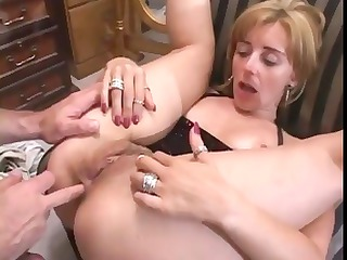dirty mature blond gets fingered and banged in