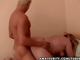 chubby amateur elderly lady gang-banged by a