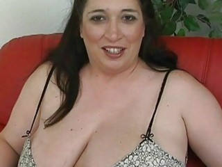 bleached dark haired momma with giant breast