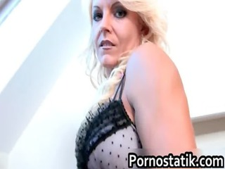blonde grown-up lady bitch takes a large penis in