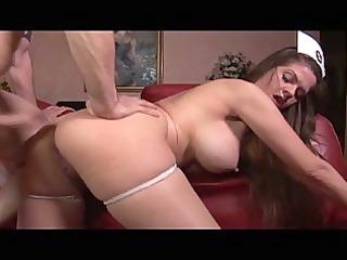 devilish huge tits brunette lady medic treating