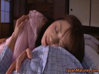 naughty japanese cougar angels sucking part1