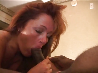 sweet redhead wife likes giant dark dick!!