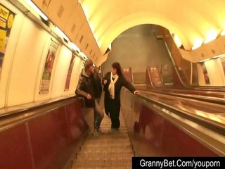 grown-up fattie into the metro