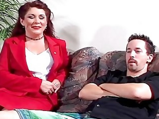 awesome mature girl gets pierced by sons d...
