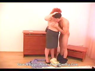 busty redhead older eats his rod and next