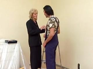 older in nylons fucks the decorator