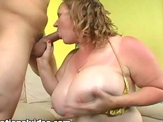 horny lady breast fucks college stud