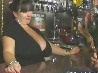 heavy british older barmaid with big tits gets