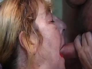 plump old slut worships the size of her