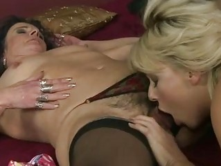 granny and awesome amateur having fun