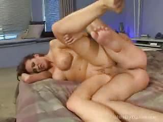 ball tasting lady slut bangs enjoy a wild slut