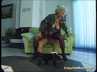 wild old lady acquires big libido oral and in