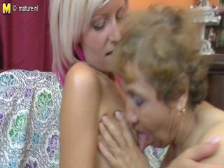 granny lesbian grandmother fucks a beautiful lady