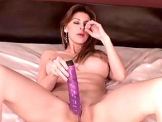 busty girl has uneasy orgasm