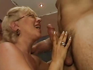 his tutor is a awesome mature slut that likes cock