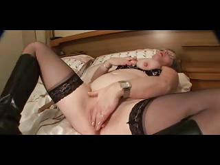 large nippled elderly inside stockings goes naked
